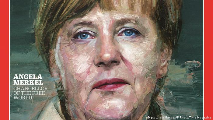 Angela Merkel Person of the Year Time Magazine Ausschnitt (picture-alliance/AP Photo/Time Magazine)