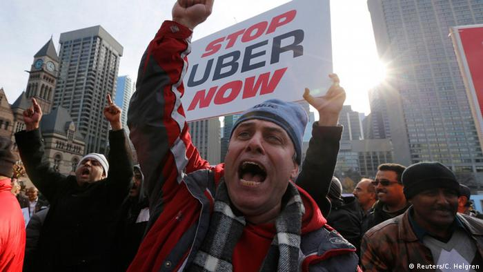 Taxi driver protest against Uber (Reuters/C. Helgren)