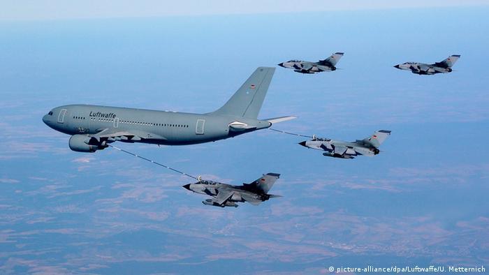 Deutschland Syrien-Einsatz Tornado Aufklärungsflugzeuge mit Tankflugzeug A310 MRTT