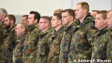 Deutschland Syrien-Einsatz Soldaten Appell vor dem Abflug