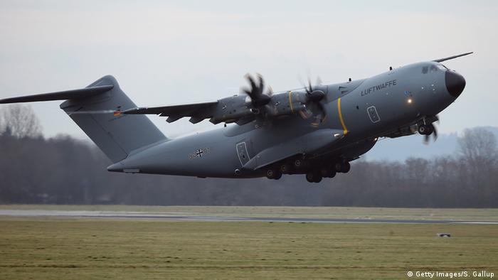 Deutschland Syrien-Einsatz Transportflugzeug A400M Abflug