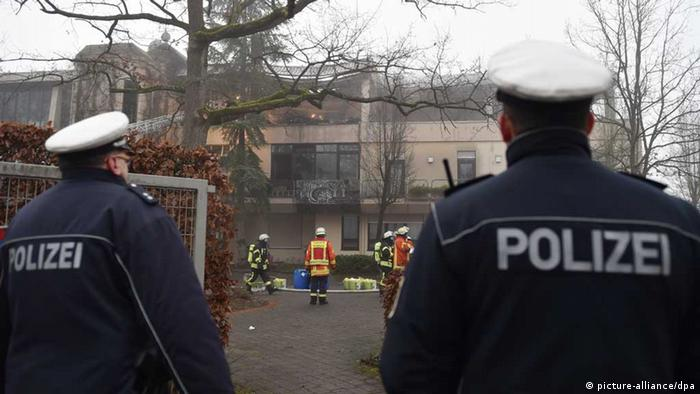 Brand in Asylbewerberunterkunft in Herxheim (Foto: dpa/picture alliance)
