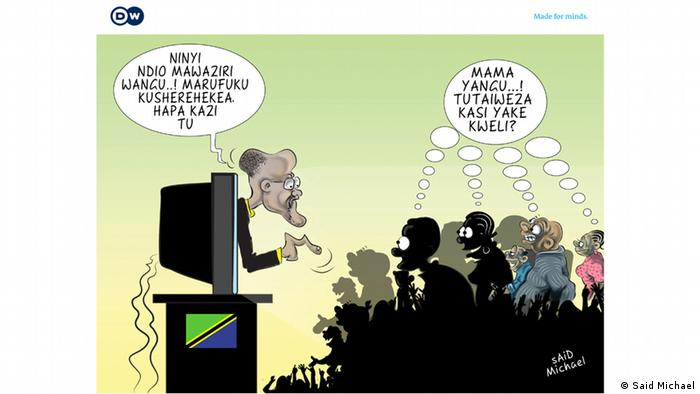 Magufuli Cabinet Minister Magufuli ernennt Minister Karikatur Said Michael
