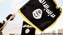 Nov. 19, 2015 - Raqqa, Syria - Islamic State of Iraq and the Levant propaganda photo showing the Black Muhammad Standard banner symbol of ISIS