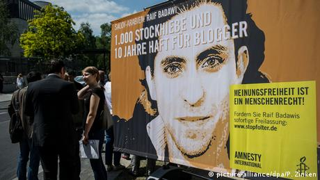 Berlin Raif Badawi Demonstration