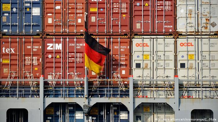 Контейнеры в порту Гамбурга