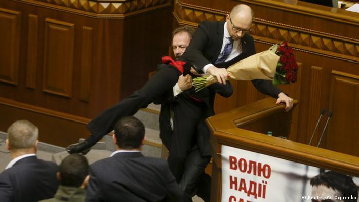 Ukraine Parlament Ausschreitung