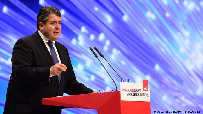 SPD Parteitag Sigmar Gabriel Wiederwahl
