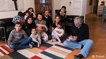 Judith Kessler's family and the Syrian family they have taken in