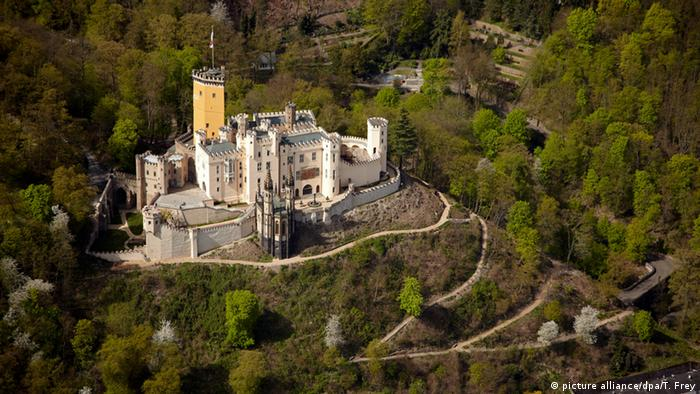 Vista aérea do castelo Stolzenfels