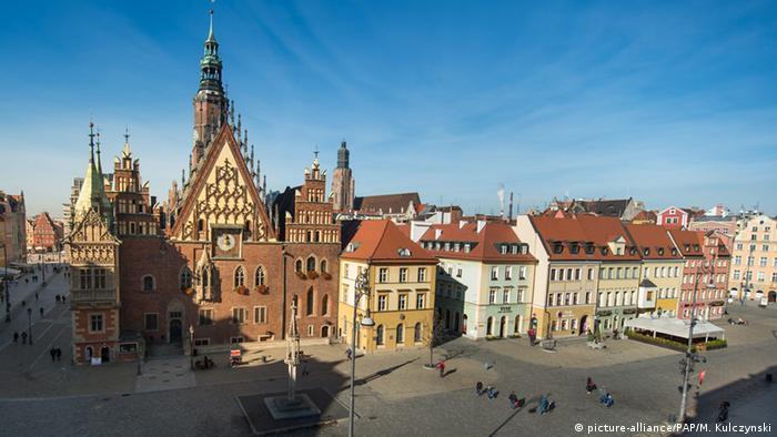 Polen Breslau Kulturhauptstadt 2016 Marktplatz