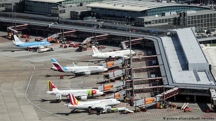 Security scare at Hamburg Airport after US tourist found with hand grenades in luggage