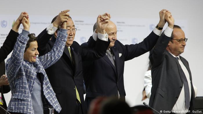 Teilnehmer auf dem Klimagipfel in Paris. Foto: FRANCOIS GUILLOT / AFP /