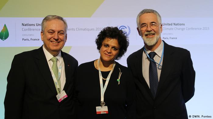 Frankreich Cop21 Klimagipfel in Paris Izabella Teixeira mit Figueredo und Carvalho