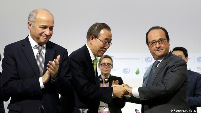 Frankreich Cop21 Klimagipfel in Paris Klimaabkommen beschlossen