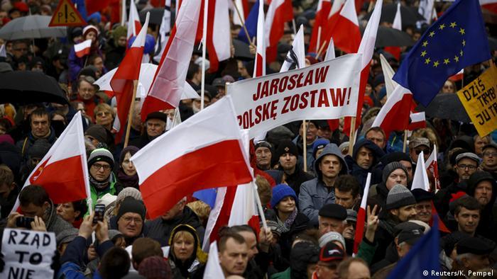Polen Warschau Demonstration Anti Regierung