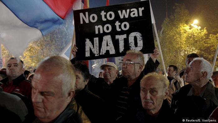 Montenegro Podgorica Proteste gegen die NATO (Reuters/E. Vasiljevic)