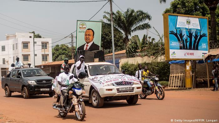 Des supporters d'Alexandre-Ferdinand N'Guendet à Bangui, en décembre 2015.