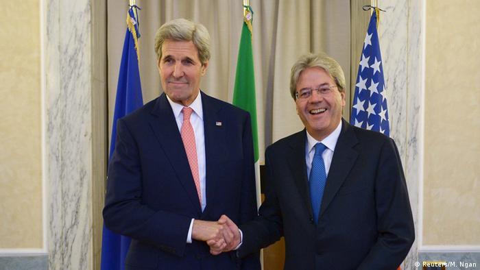 Italien Rom Libyen Gipfel Außenminister John Kerry und Paolo Gentiloni