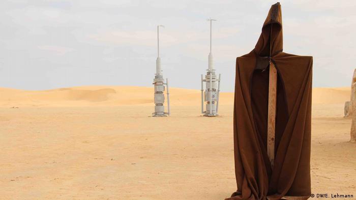 Film set props - vaporators - in the desert (Copyright: E Lehmann)