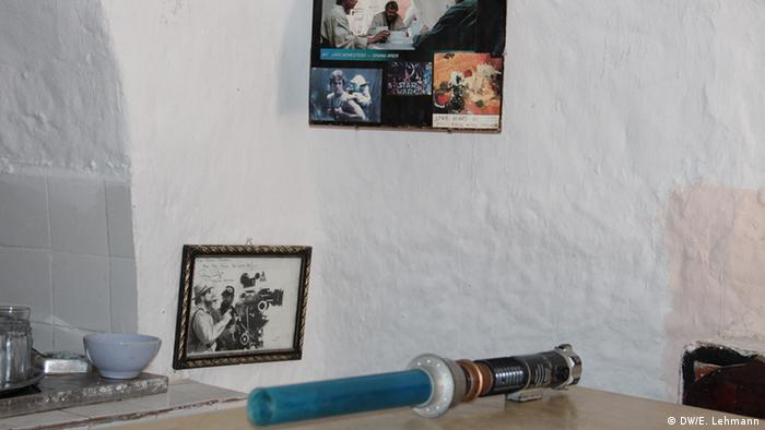 Lightsaber on a table in a hotel in Tunisia (Copyright: E Lehmann)