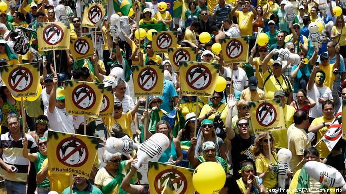 Proteste gegen Dilma Rousseff in Brasilia (Foto: Getty Images/AFP)