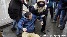 China Protest Gerichtsprozess Pu Zhiqiang Bürgerrechtler