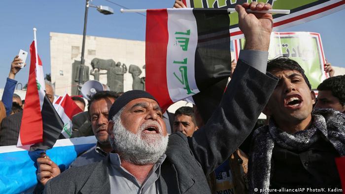 Irak Protest gegen türkische Militärpräsenz