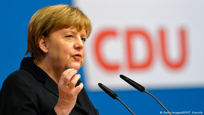 Angela Merkel at CDU party conference in Karlsruhe
