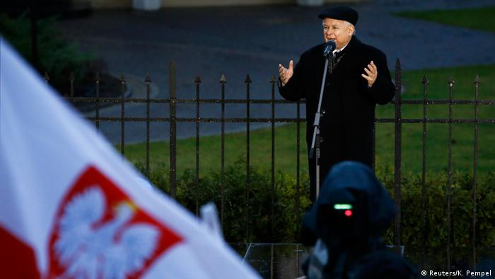 Leader of the Law and Justice (PiS) party, Jaroslaw Kaczynski, the power behind the scenes in Poland
