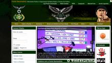 Screenshot Webseite Frente Nacionalista Brasilien