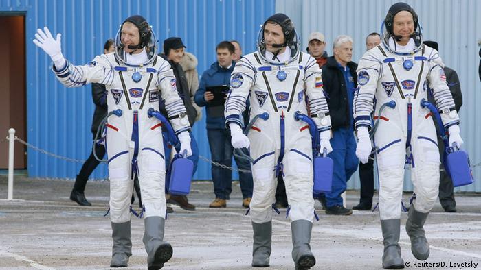 Russland Astronauten vor dem Start zur ISS