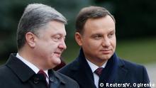 Ukraine Polen Duda bei Poroschenko