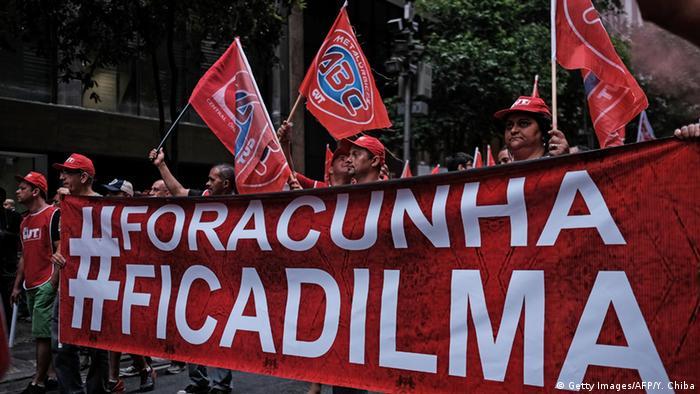 Brasilien Proteste gegen Eduardo Cunha Parlamenstpräsident
