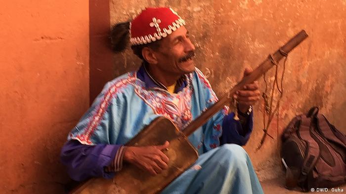 Marokko Fotoreportage Musiker am Gauklerplatz in Marrakesch