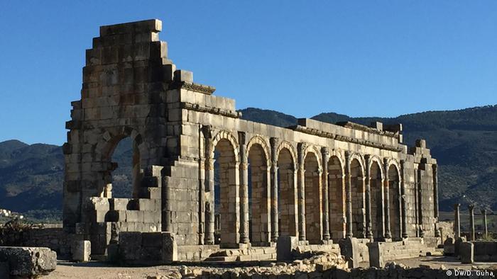Marokko Fotoreportage Tempel in der Stadt Volubilis