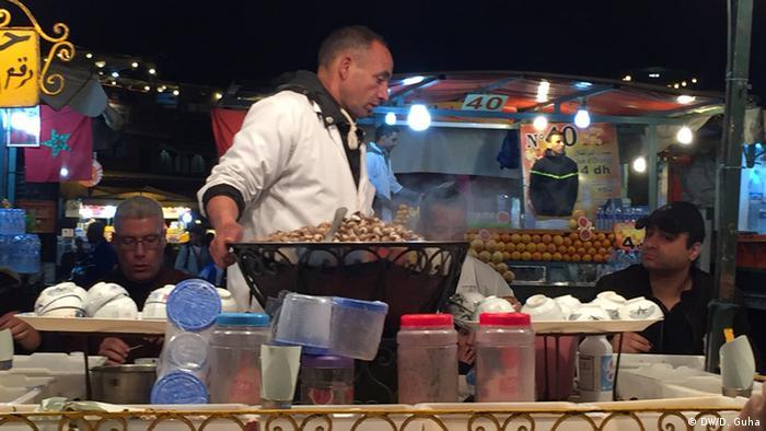 Marokko Fotoreportage Gauklerplatz in Marrakesch