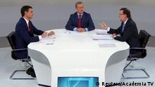 Spanien Wahl TV-Duell Pedro Sanchez & Mariano Rajoy
