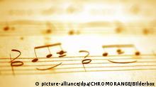 Symbolbild Musik Klassik Konzert Oper Notenblatt