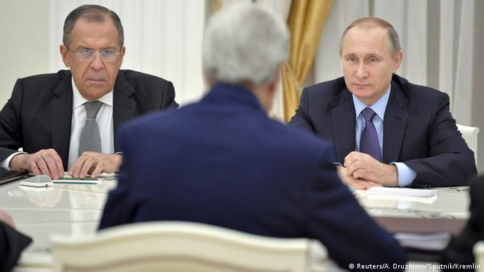 Russland USA Lawrow & Putin & Kerry in Moskau