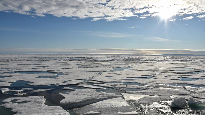 Arktis Eisdecke Klima Arktischer Ozean Nordpol Schmelztümpel (picture-alliance/dpa/U.Mauder)