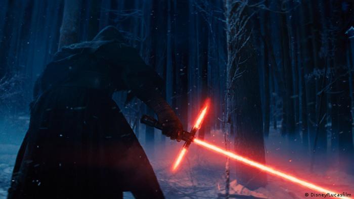 Adam Driver as Kylo Ren in Star Wars: The Force Awakens (Disney/Lucasfilm)