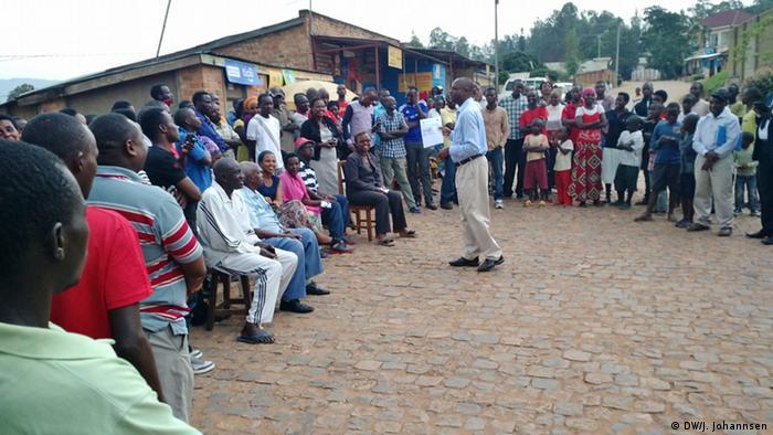 Ruanda Verfassungsreferendum Anweisungen zum Ausfüllen des Stimmzettels