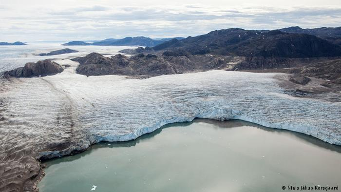 Upernavik glacier in Greenland Photo: Niels Jákup Korsgaard, Natural History Museum, Denmark