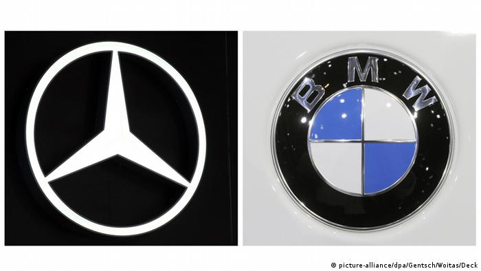 Deutschland Mercedes und BMW Logos Kombobild