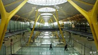 A terminal at Madrid's Barajas airport