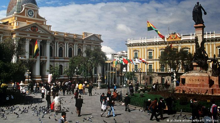 Plaza Murillo de La Paz, Bolivia.