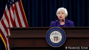 USA U.S. Federal Reserve Erhöhung Leitzins Janet Yellen