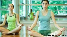 Frauen Yoga Raum