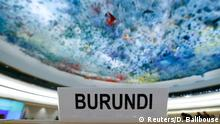 17.12.2015+++ The seat of Burundi delegation is pictured before a special session of the Human Rights Council on the situation in Burundi in Geneva, Switzerland December 17, 2015. REUTERS/Denis Balibouse +++ (C) Reuters/D. Balibouse